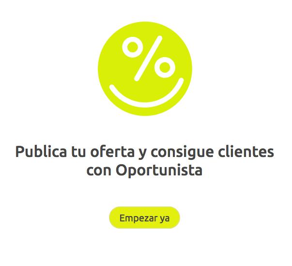 Publica tu oferta en Oportunista.com